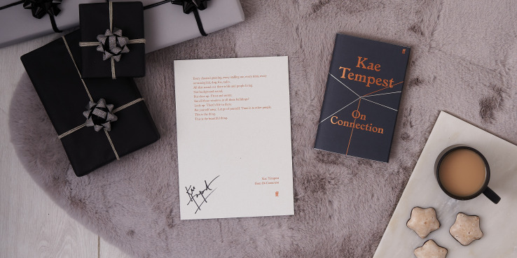 kae tempest print next to gifts and book